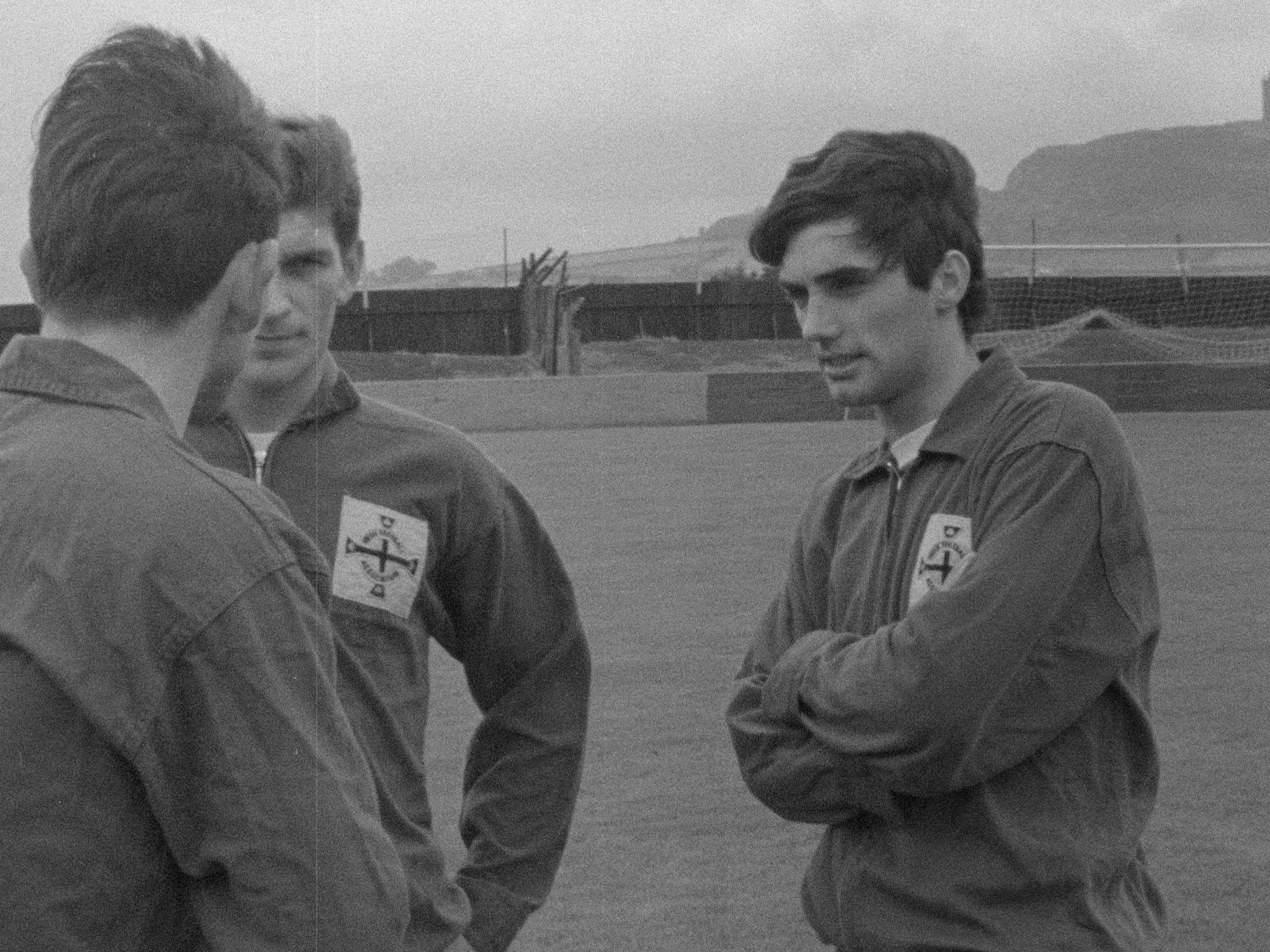 George Best (R) at football training